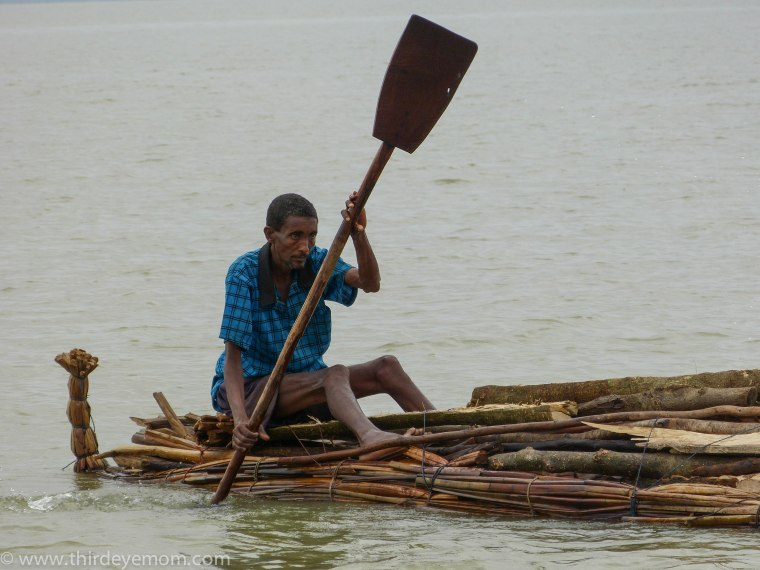 Papyrus fisherman on Lake Tana, Ethiopia