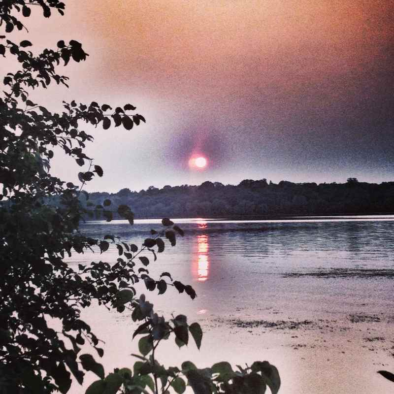 Sunset over Lake Harriet