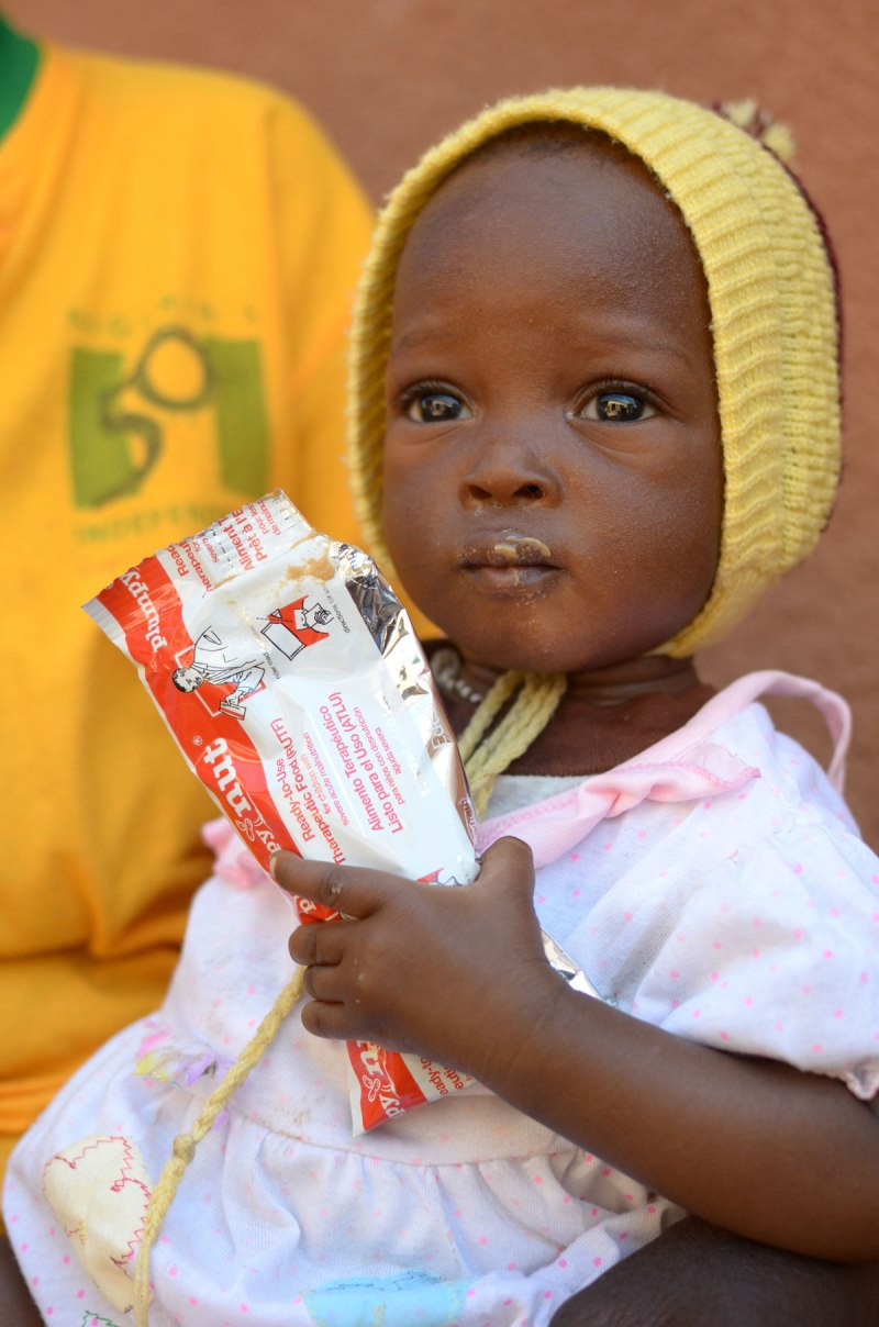 Children in Burkina Faso who have benefited by Plumpy'Nut nutritional paste. Photo Credit: Edesia Photo Credit: Edesia