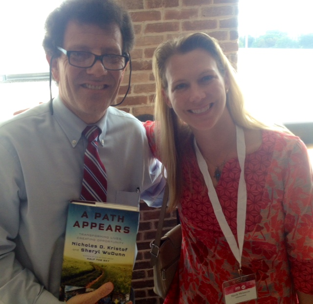 Getting a copy of Nick Kristof's book signed was another highlight.
