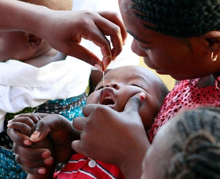 A child receiving a life-saving vaccine.  Shot@Life--UN Foundation, Mozambique, Wednesday, June 1, 2011 (Photo/Stuart Ramson)