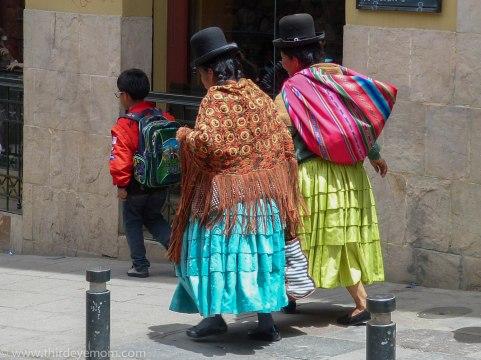 Women in La Paz, Bolivia
