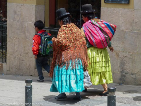 Women in La Paz, Bolivia