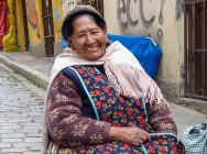 Woman in La Paz Bolivia