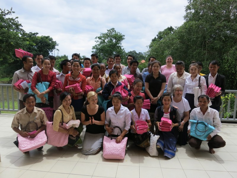 Training nurse midwives in Laos. Photo credit: Kristyn Zalota