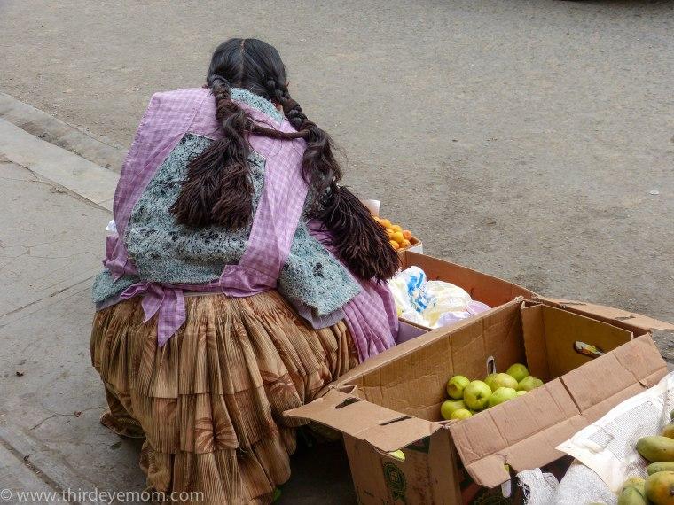People in La Paz, Bolivia