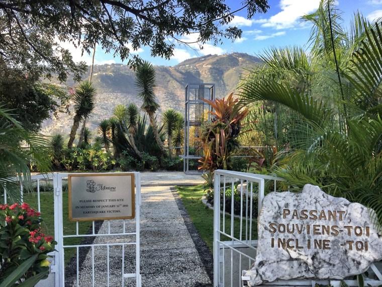 Hotel Montana memorial Haiti