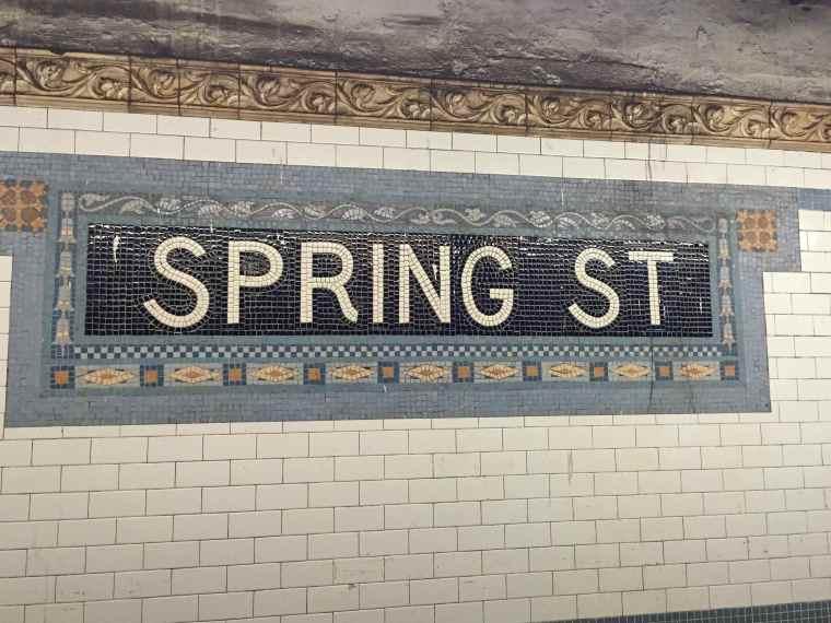 Spring Street Subway stop