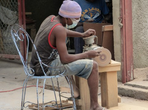 Christelle Paul Horn and Bone Art Haiti