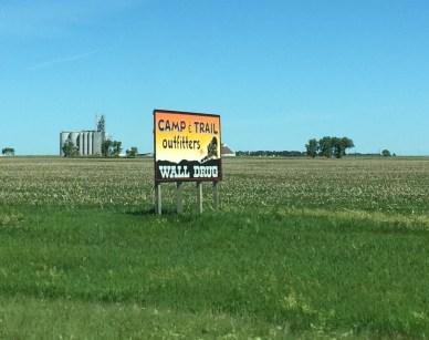 Wall Drug signs South Dakota