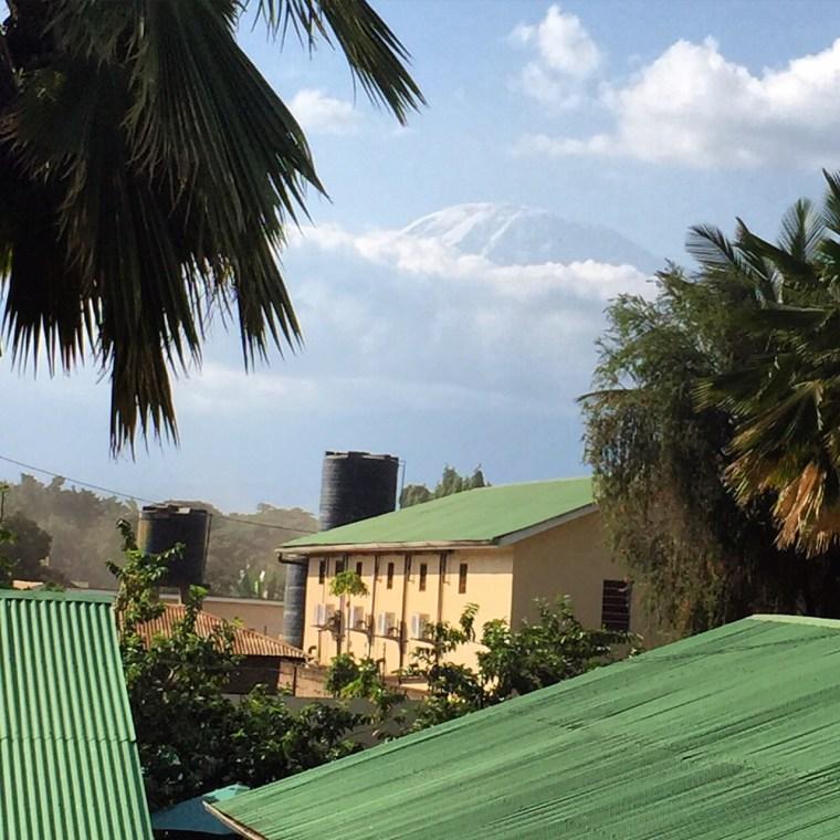 Mount Kilimanjaro view from Springlands hotel Moshi