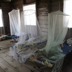 Jennifer went to Nicaragua as a social good blogger with WaterAid where she learned about water and sanitation issues. Here she sleeps under a bed net at night to protect against malaria. Photo Credit: Jennifer Iacovelli