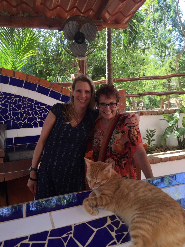 Me and Debbie (blogger of Rewind and Retired in Nicaragua) in San Juan del Sur.