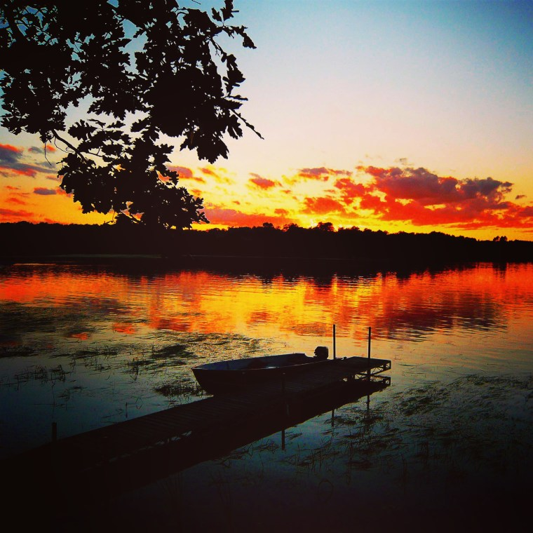 Sunset on a lake in Minnesota