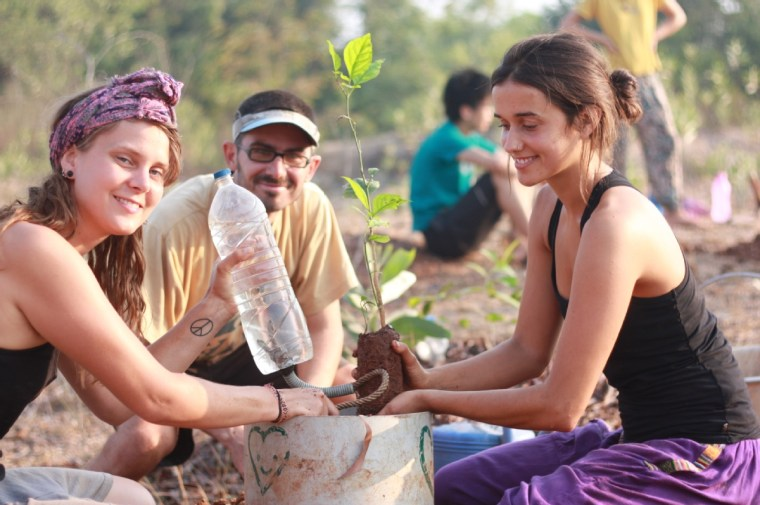 The team at Sadhana Forest India is working to re-create the Tropical Dry Evergreen Forest indigenous to our area. Nature lovers can join to help reforest and save the land.