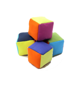 Colorful plush blocks (set of four)
