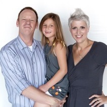 Heather, her husband Cameron and daughter Lily