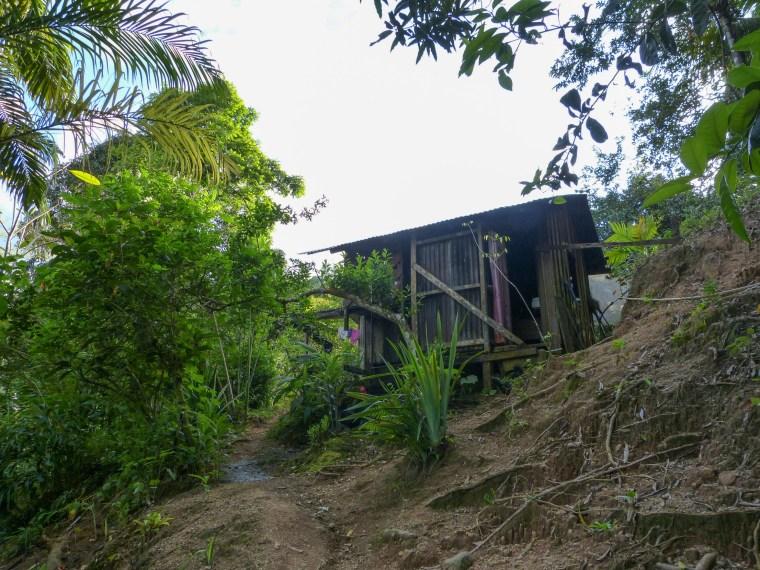 First sight of Xiña's cabin
