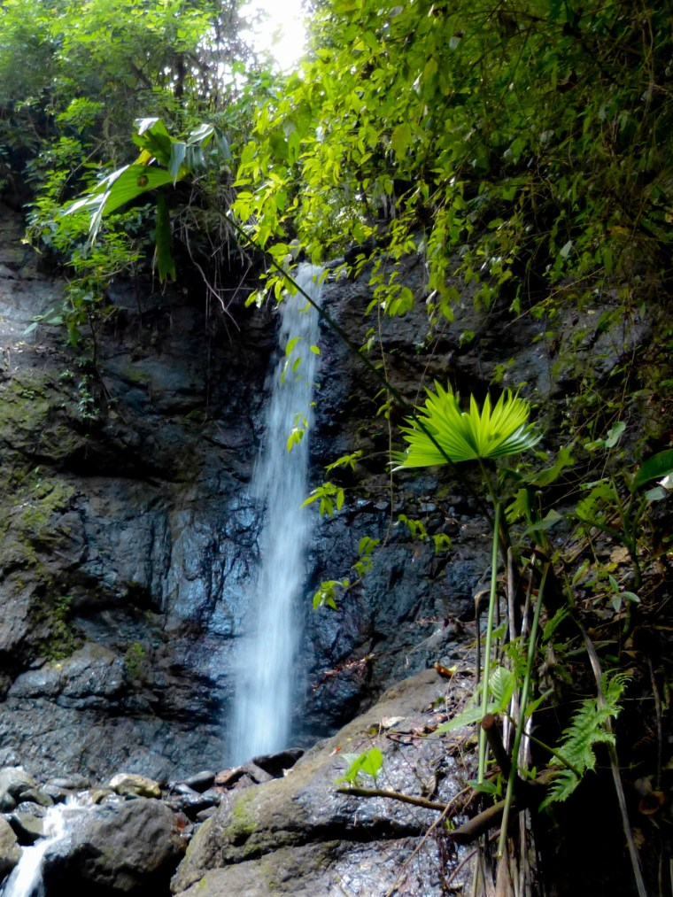 """The new waterfall which we aptly named """"Xiña's Falls""""."""