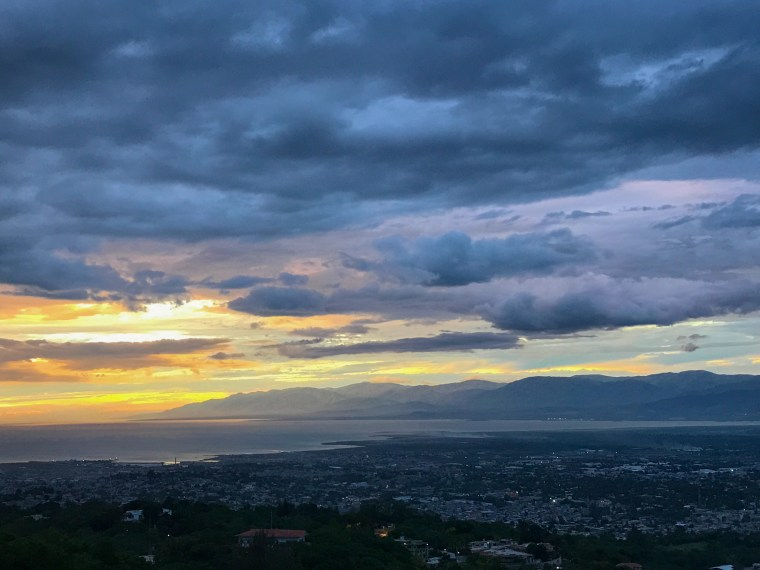 A beautiful view of Port-au-Prince below from Hotel Montana