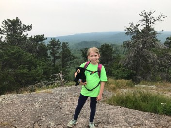 Sophia at the top of Oberg Mountain