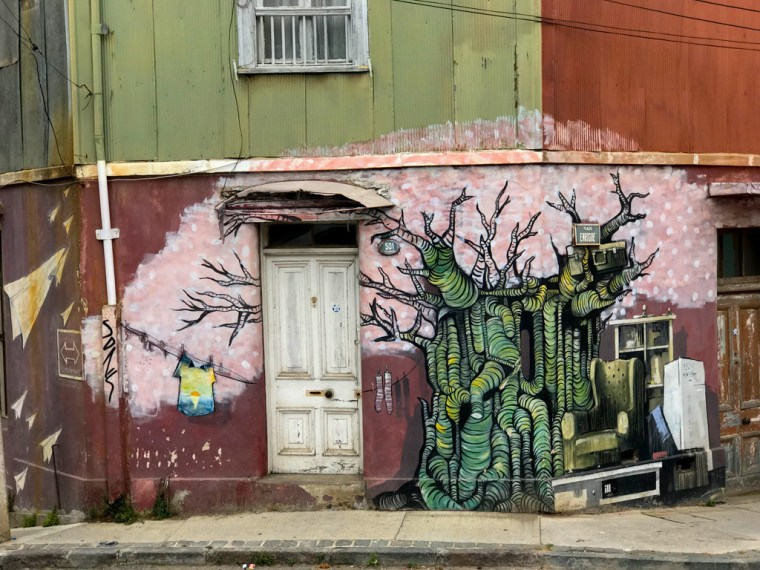 Street Art, Cerro Alegre, Valparaiso, Chile