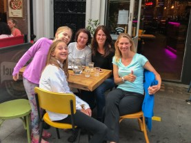 Dinners outside in Picadilly Circus