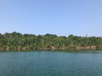 The pristine shoreline of Raspberry Island was breathtaking