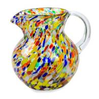 Novica Hand Blown Glass Pitcher