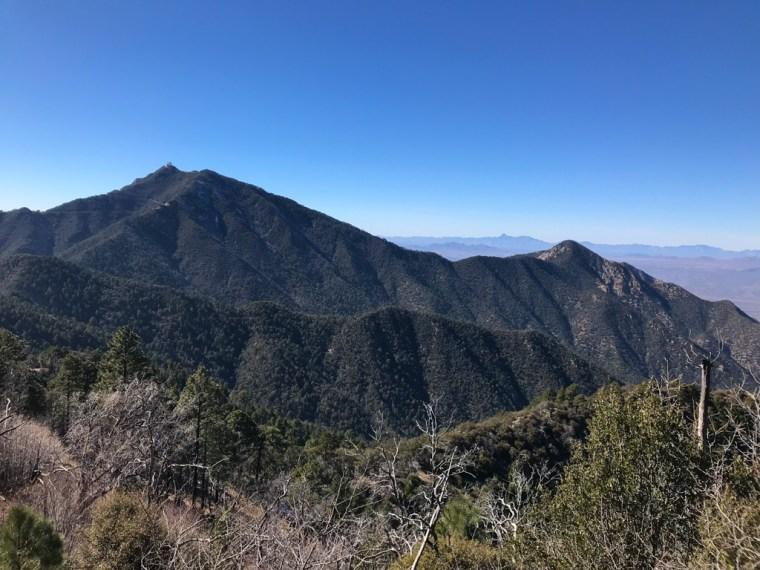 Views along the way go Old Baldy Trailhead, Mount Wrightson, Tucson, Arizona 3