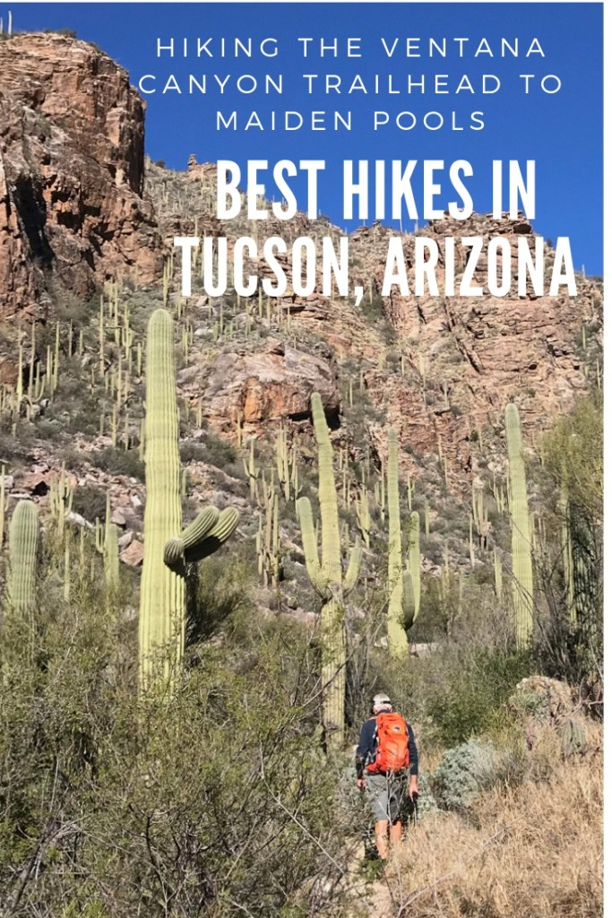 One of my all time favorite hikes in Tucson is along the Ventana Canyon Trailhead up to Maiden Pools. Located adjacent to Loews Ventana Canyon resort in the Santa Catalina mountains and less than five minutes from my parents' home, this 4.7 mile hike up the canyon is one of Tucson's finest.Known for its spectacular beauty and magnificent views, the hike to Maiden Pools is a moderate two and a half hour hike depending on speed and stops.