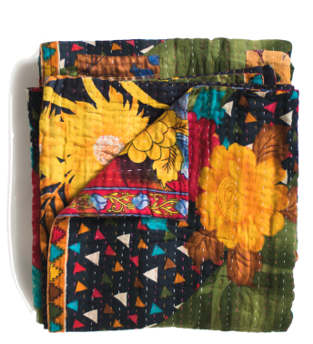 dignify kantha throw