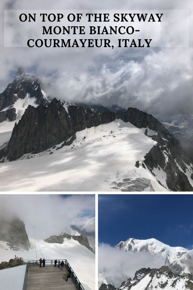On our last day in Courmayeur, we decided to take in the stunning surroundings of the Alps from the top of the Skyway Monte Bianco. Opened in 2015, the Skyway Monte Bianco whisks passengers up to the top of Punta Helbronner at 3466 meters/11371 feet where you can get a bird's eye view of the entire Mont Blanc Massif.
