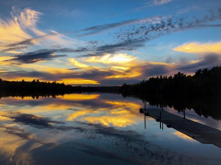 Sunset Ely, Minnesota