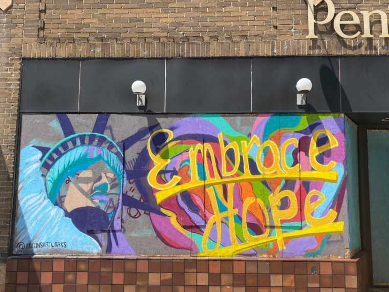 George Floyd Murals on Hennepin Ave South Minneapolis