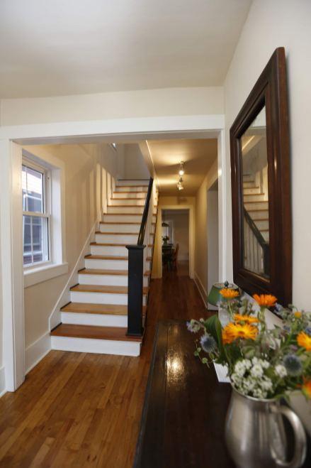 Entryway (three floors). Photo credit: Jan Cole/Airbnb