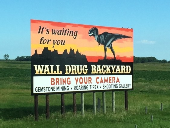 Wall Drug signs South Dakota