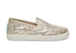 GOLD METALLIC FOIL YOUTH AVALON SLIP ONS