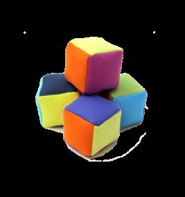 Colorful plush blocks (set of four)