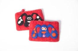 The Red Sari coin purses