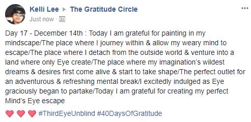 Gratitude 2 Day 17 2017-12-14