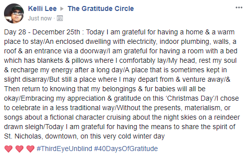 Gratitude 2 Day 28 2017-12-25
