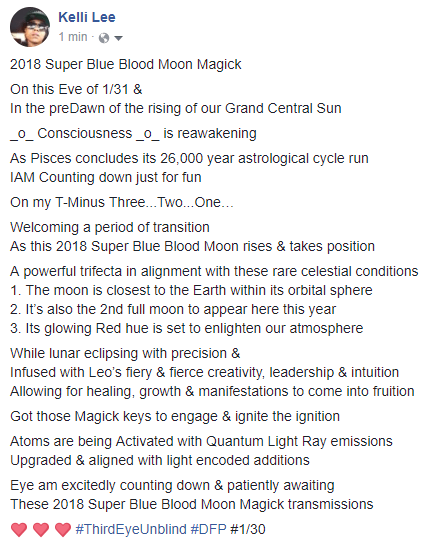 2018 Super Blue Blood Moon Magick