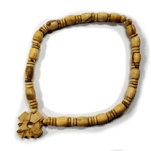 third eye wood's beaded palo santo chakana necklace