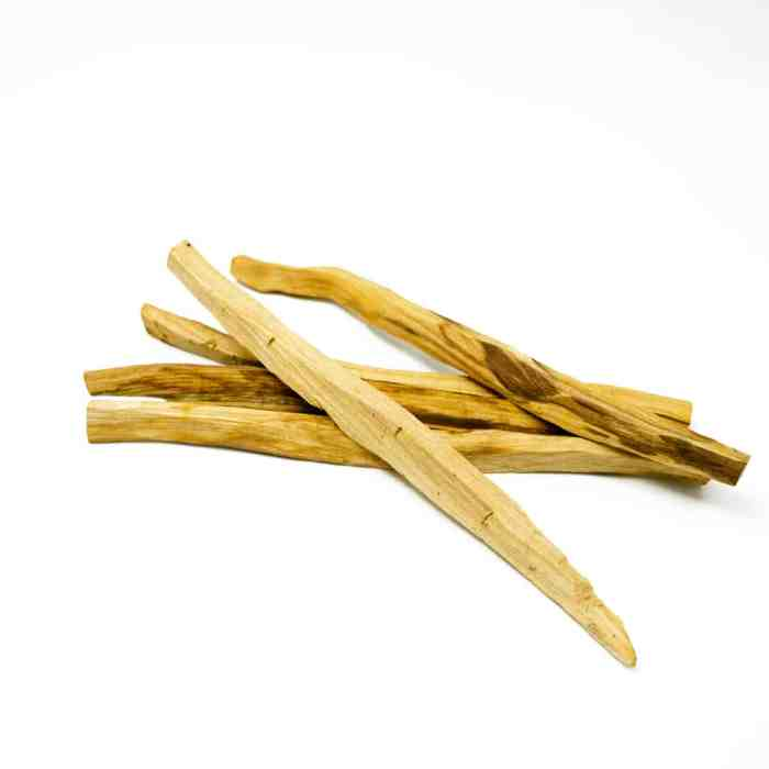 stack of premium palo santo wood incense from peru