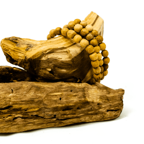 palo santo beaded bracelet by third eye wood