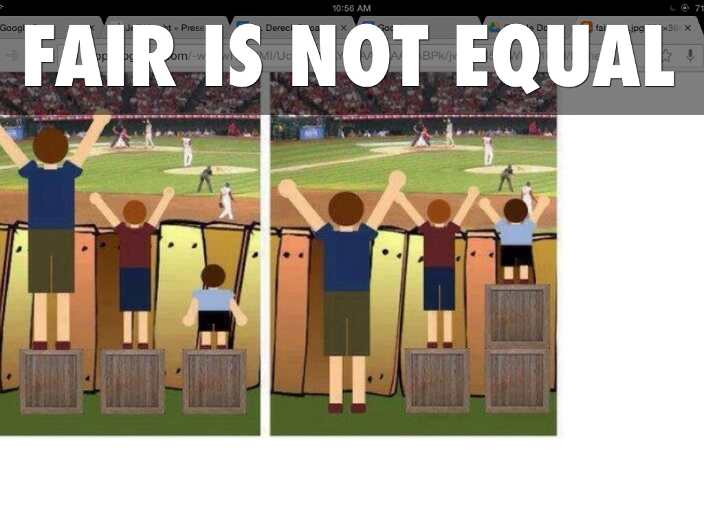 Equal Versus Fair