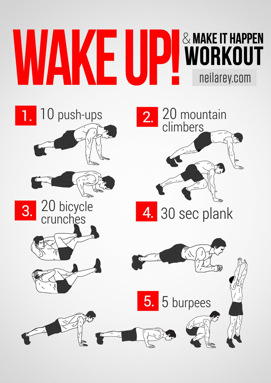 hight resolution of wake up workout