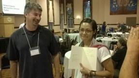 Data gets Dr. Rickert's Signature!
