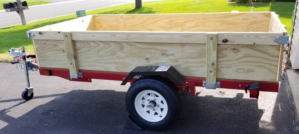medium resolution of harbor freight folding trailer box with removable sides third stall woodworking